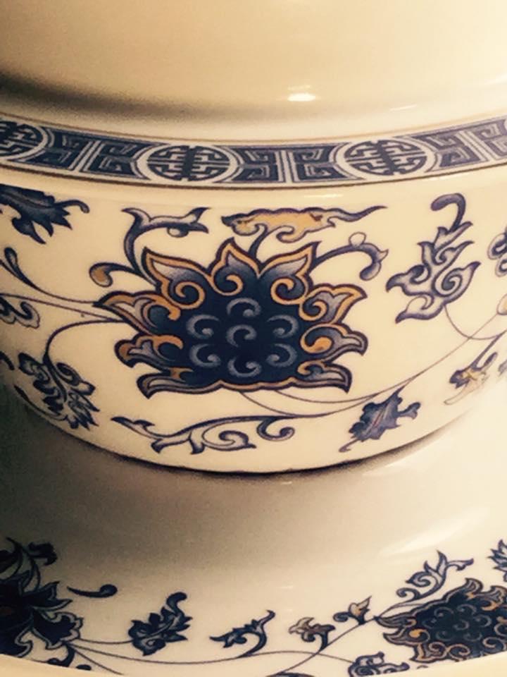 pormenores da porcelana chinesa da Dinastia Ming