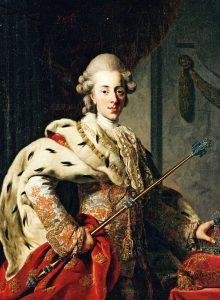 Rei Christian VII da Dinamarca, pintado por Alexander Roslin